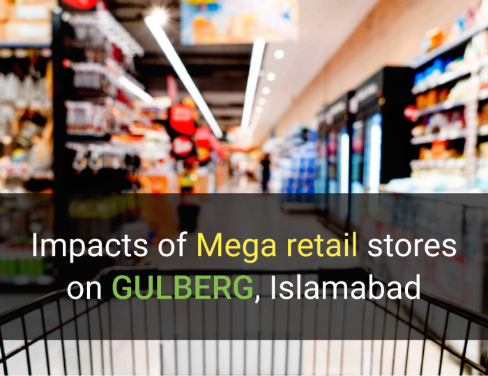 retail stores impact on gulberg